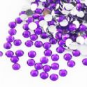 Jewel Embellishments, Resin, Royal purple, Faceted Discs, 4mm x 4mm x 1.2mm, 300  pieces, (ZSS057)